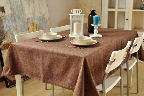 Brown Linen Tablecloth, Rustic Wedding, Handmade Tablecloth for Dining and Kitchen