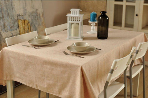 Cream Color Linen Tablecloth, Rustic Wedding, Handmade Tablecloth for Dining and Kitchen