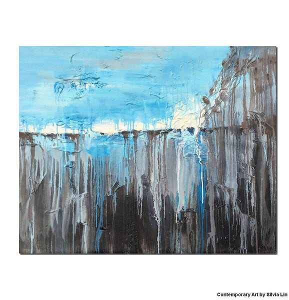 Canvas Art, Abstract Art, Oil Painting, Original Painting, Canvas Wall Decor, Modern Art, Abstract Landscape Painting, Large Canvas Art - Art Painting Canvas