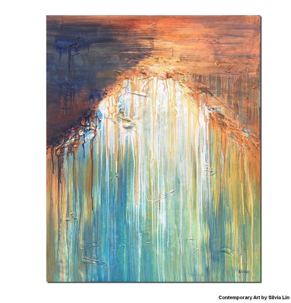 New Large Abstract Painting, Abstract Oil Painting, Extra Large Wall  GQ37