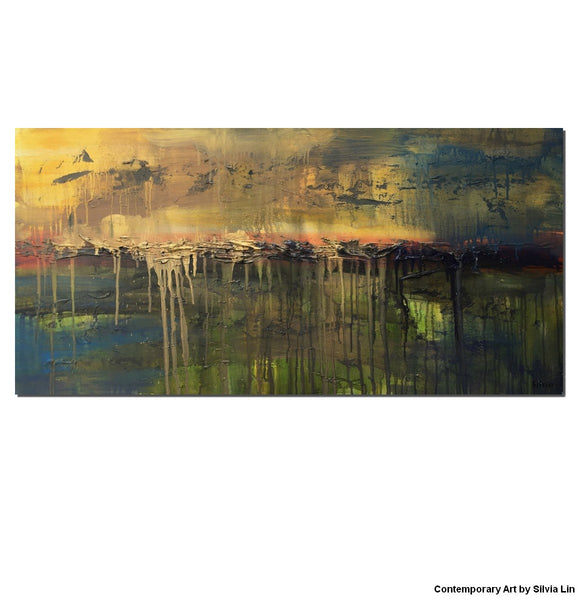 Oil Painting Original, Large Oil Painting, Canvas Art, Abstract Painting, Wall Hanging, Modern Painting, Original Landscape Painting