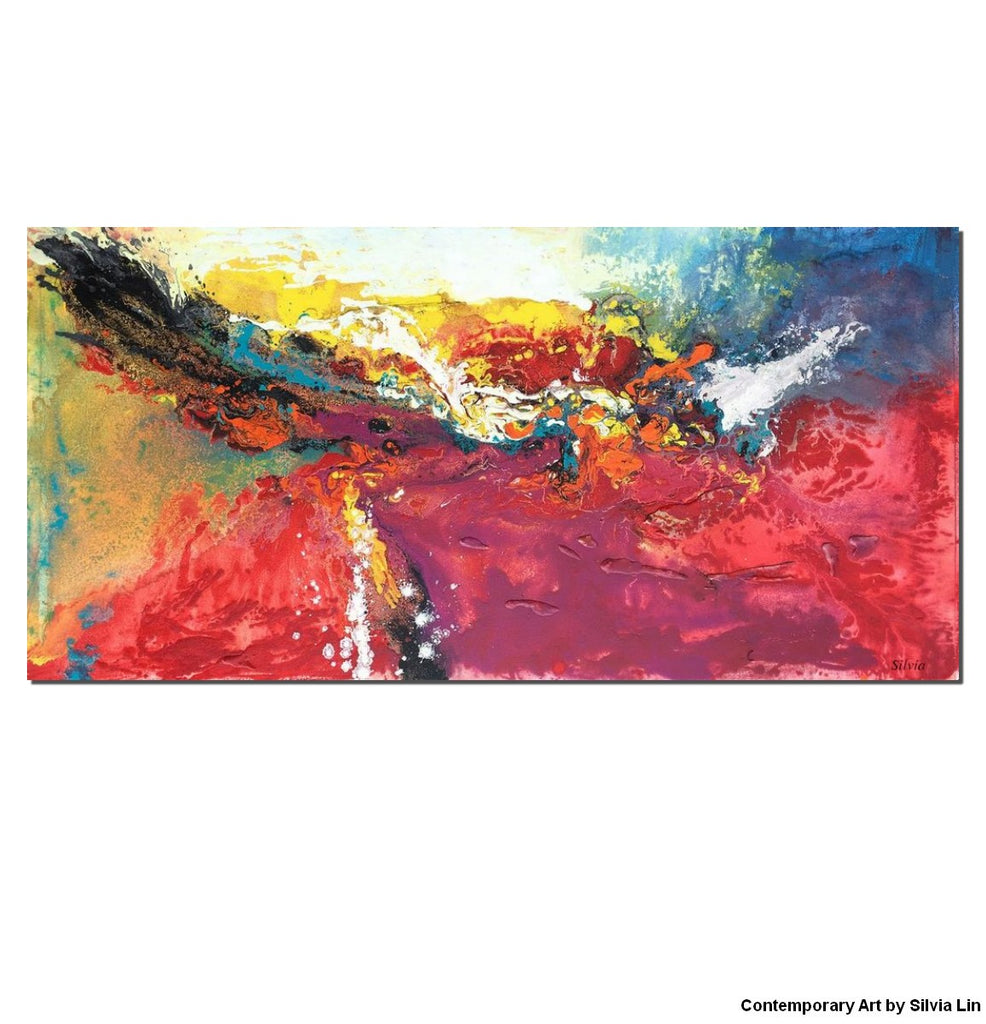Super Abstract Painting Red, Oil Painting Abstract, Original Art, Modern  FY72