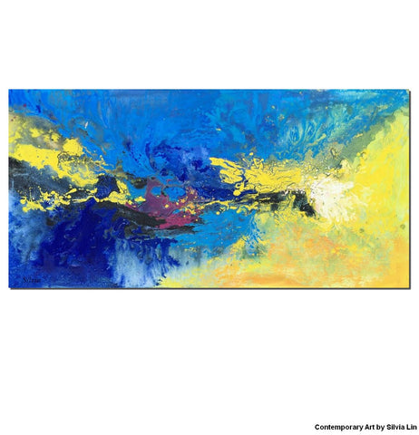Abstract Painting, Blue, Art Textured, Oil Painting Abstract, Large Abstract Art, Modern Art, Abstract Canvas Art, Original Abstract Art - Art Painting Canvas
