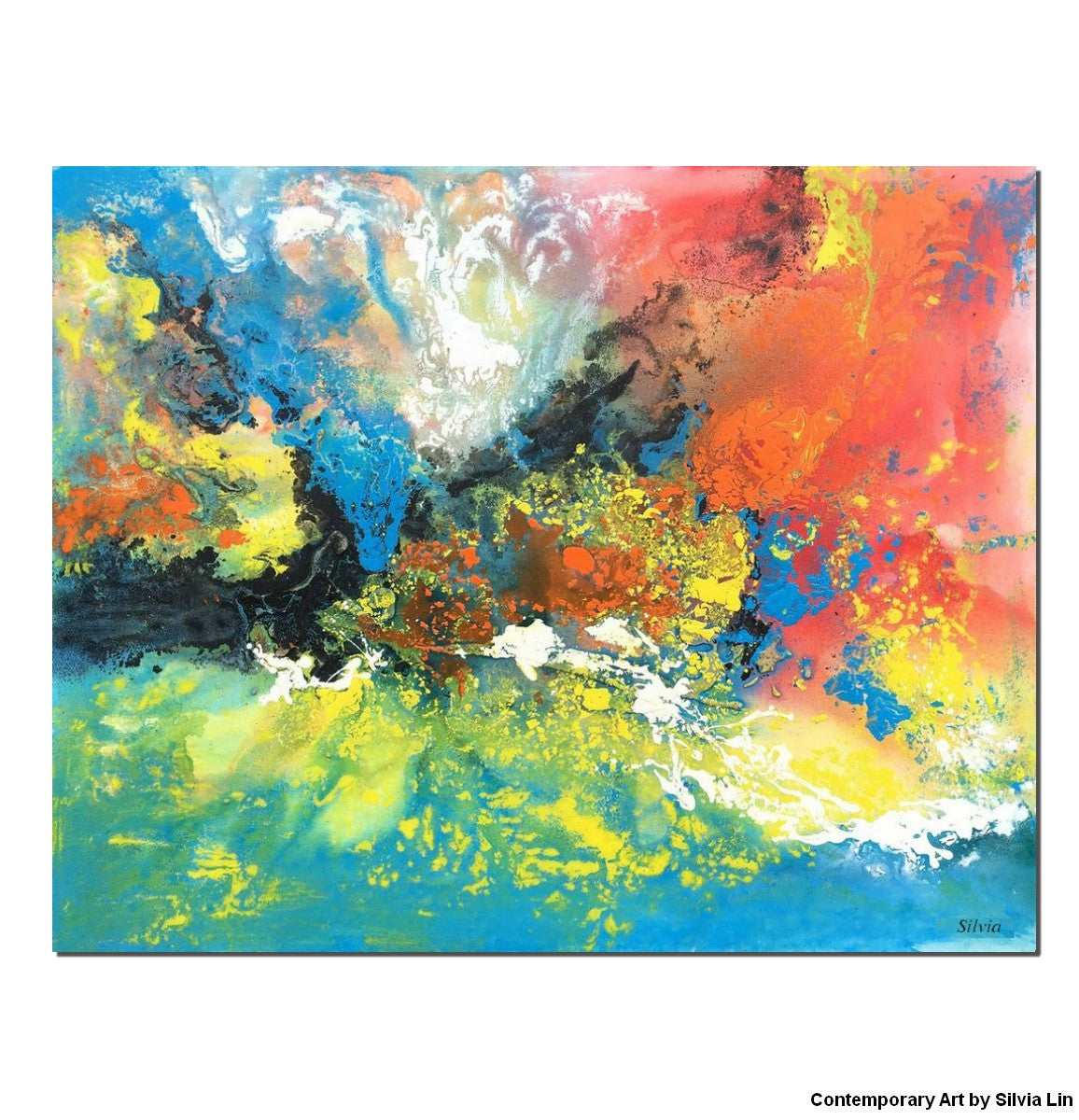 Oil Painting Abstract Painting Wall Decor Original Painting Abstract Landscape Abstract Canvas Art Wall Art Abstract Ar