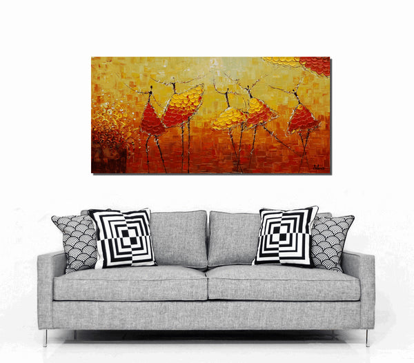 Contemporary Art, Large Abstract Painting, Abstract Painting, Acrylic Painting, Abstract Canvas Painting, Modern Wall Art, Original Artwork, Ballet Dancer