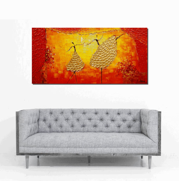 Ballet Dancer Painting, Acrylic Painting, Canvas Art, Abstract Wall Art, Original Abstract Art, Large Canvas Art, Large Landscape Painting