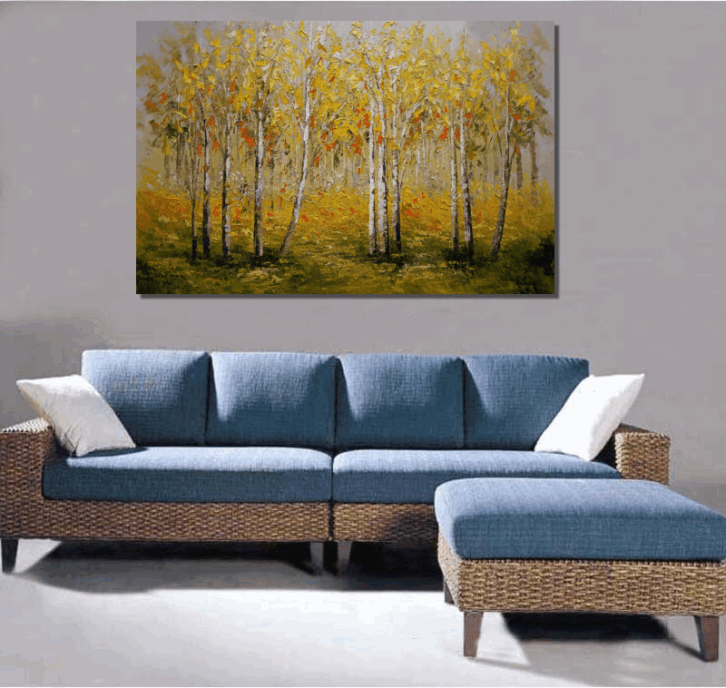 Landscape Painting, Large Art, Canvas Painting, Canvas Wall Art, Original Painting, Large Abstract Art, Canvas Painting, Forest Tree Painting