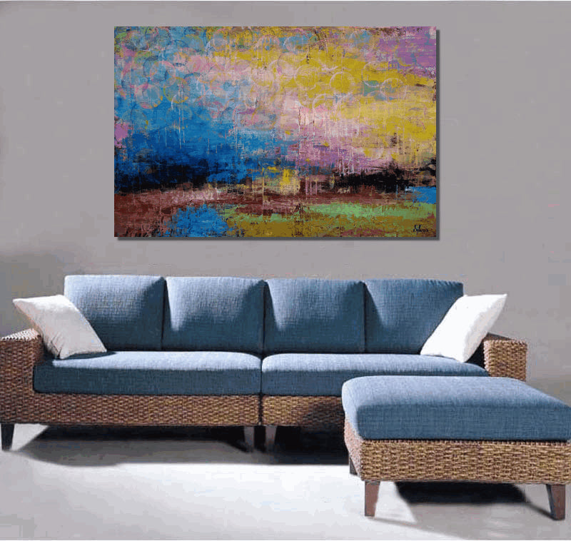 Large Art Landscape Painting Canvas Abstract Original