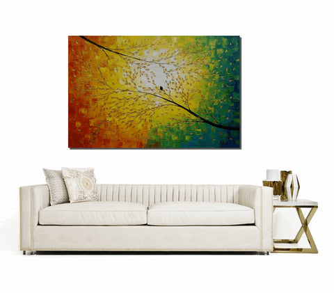 Abstract Painting, Love Birds Painting, Wedding Gift, Abstract Art, Large Art, Oil Painting, Canvas Art, Large Wall Art, Canvas Painting, Original Painting - Art Painting Canvas