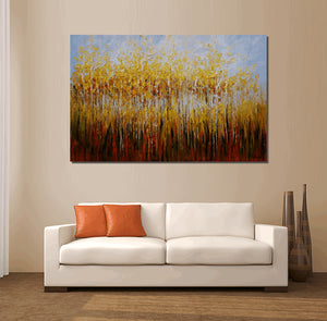Large Art, Abstract Art, Landscape Painting, Birch Tree Painting, Large Painting, Canvas Art, Oil Painting, Wall Art, Abstract Painting