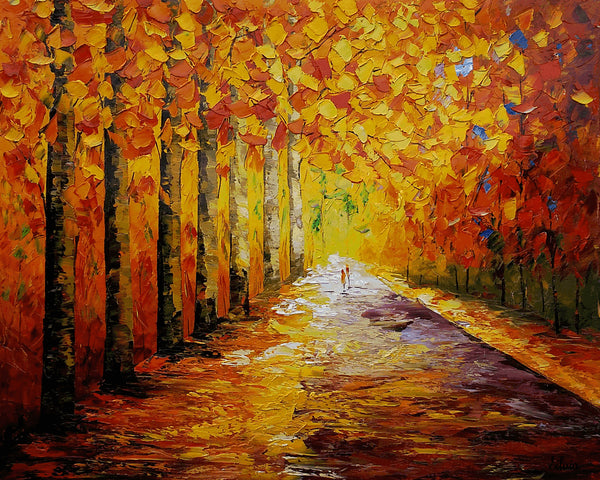 Autumn Forest, Wall Art, Large Art, Original Panting, Wall Art, Large Painting, Oil Painting, Landscape Painting, Abstract Painting, Canvas Art, Large Art - Art Painting Canvas