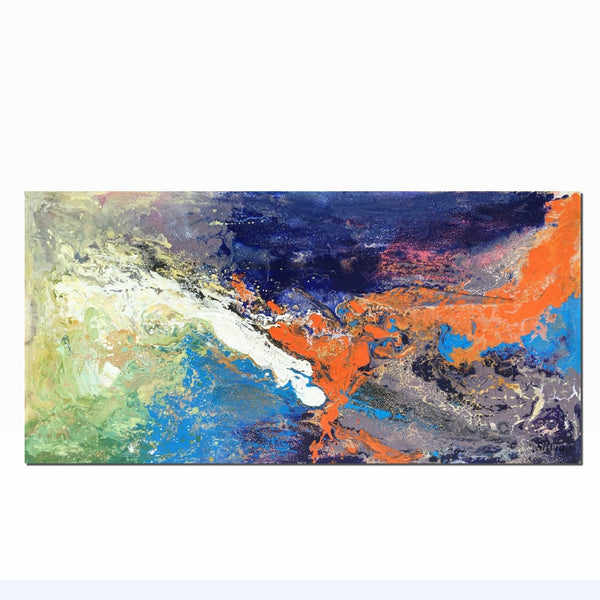 Oil Painting Original, Abstract Painting, Canvas Art, Large Wall Art, Fantasy, Oil Painting Abstract, Contemporary Art, Landscape, 24x48""