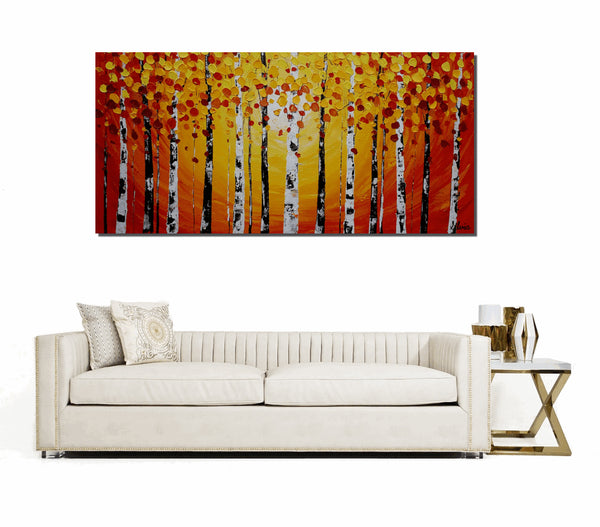 Original Painting, Landscape Painting, Autumn Painting, Abstract Painting, Canvas Art, Canvas Painting, Large Art, Abstract Art, Autumn Tree