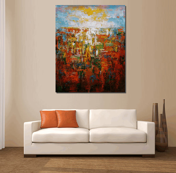 Large Art, Abstract Painting, Canvas Art, Canvas Wall Art, Original Art, Contemporary Art, Modern Art, Abstract Art, Landscape Wall Art