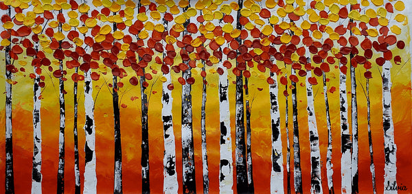 Large Painting, Oil Painting, Large Art, Wall Art, Canvas Painting, Wall Art, Abstract Art, Abstract Painting, Original Painting, Birch Tree