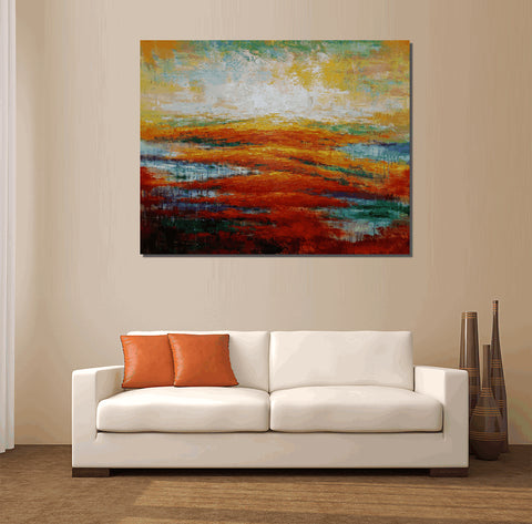 Original Art, Large Art, Abstract Landscape Painting, Canvas Art, Abstract Art, Canvas Painting, Abstract Painting, Wall Art, Landscape Art