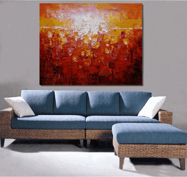 Wall Painting, Canvas Art, Oil Painting, Large Art, Abstract Wall Art, Abstract Wall Art, Large Wall Art, Large Painting, Red