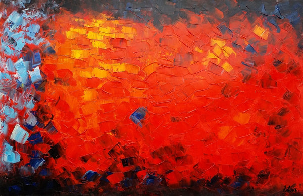 Red Color Painting, Landscape Painting, Abstract Painting, Canvas Art, Original Art, Wall Art, Large Art, Original Panting, Oil Painting