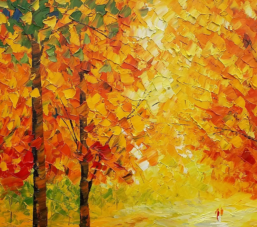 Autumn Tree, Landscape Painting, Abstract Art, Canvas Art, Abstract ...