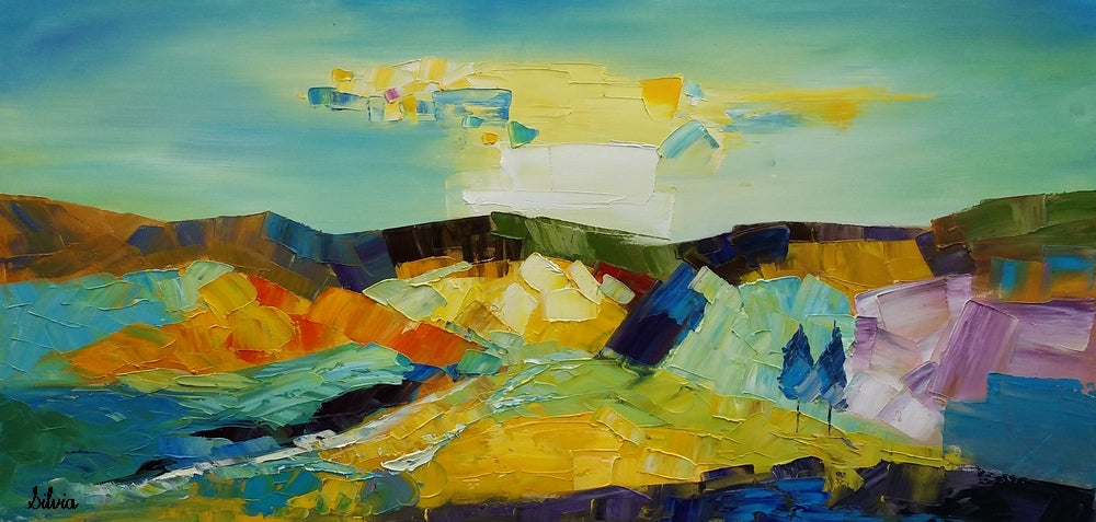 ... Abstract Landscape Painting Canvas Art Large Art Original Art Abstract Art ... & Abstract Landscape Painting Canvas Art Large Art Original Art ...