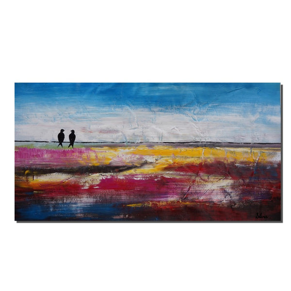Abstract Painting, Abstract Art, Canvas Painting, Love Birds Painting, Canvas Art, Original Oil Painting, Oil Painting, Wall Art, Abstract Painting, Large Art - Art Painting Canvas