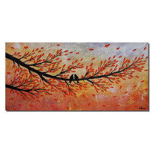 Love Birds, Wall Art, Large Painting, Abstract Painting, Large Art, Original Art, Canvas Painting, Abstract Art, Canvas Art, Oil Painting
