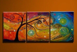 Tree of Life Painting, Abstract Art Painting, 3 Piece Canvas Art, Canvas Painting, Large Group Painting