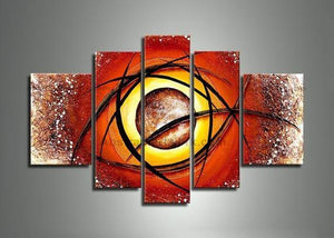 Large Artwork, Abstract Painting for Sale, 5 Piece Canvas Wall Art, Canvas Art Painting
