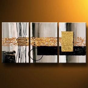 Modern Abstract Art, 3 Piece Wall Art, Bedroom Canvas Painting, Acrylic Painting, Modern Wall Art Painting-Grace Painting Crafts