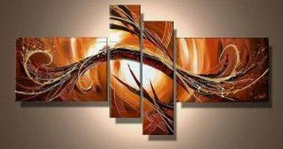 Canvas Art Painting, Abstract Acrylic Art, 4 Piece Wall Art, Buy Painting Online - Art Painting Canvas