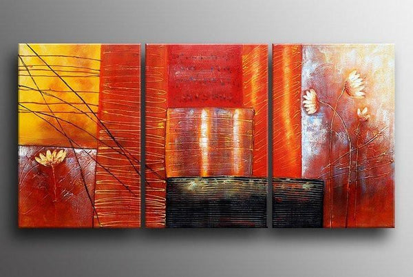 Red Abstract Painting, Abstract Art, Canvas Painting, Abstract Art for Sale