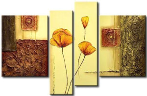 Flower Abstract Painting, Large Acrylic Painting, Abstract Painting, Bedroom Wall Art