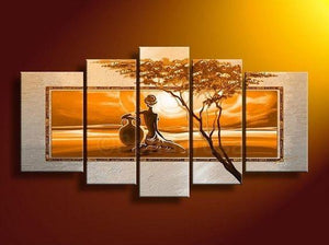 Extra Large Wall Art, African Woman Painting, Bedroom Canvas Painting, Buy Art Online