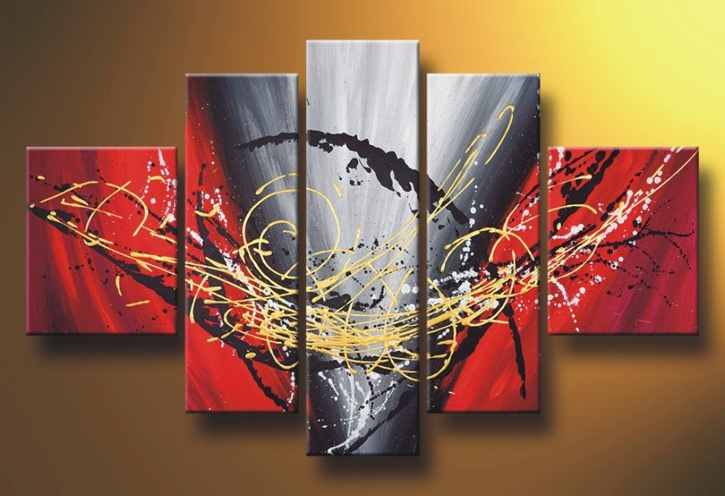 Dancing Lines Abstract Art, Canvas Painting, Acrylic Art for Sale, Huge Painting