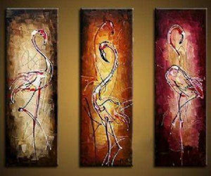 Canvas Painting, Abstract Bird Painting, Abstract Painting, Acrylic Art, 3 Piece Wall Art - Art Painting Canvas