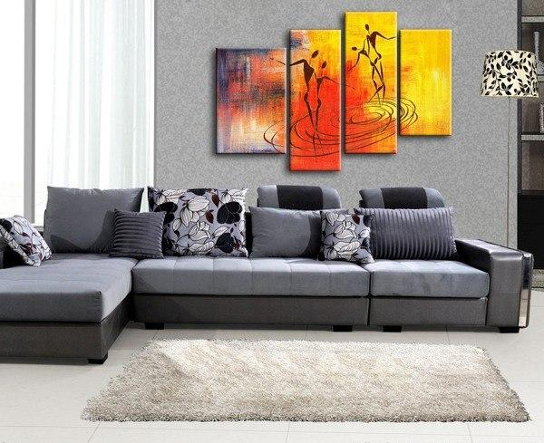 Abstract Painting of Lofe, Large Acrylic Painting, Abstract Painting, Bedroom Wall Art - Art Painting Canvas