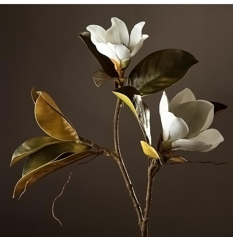 Large White Magnolias Artificial Flowers Artificial Botany Plants