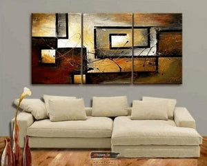 Abstract Painting, Canvas Painting, Living Room Wall Art, Modern Art, 3 Piece Wall Art, Home Art Decor - Art Painting Canvas