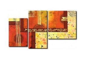 3 Piece Wall Art, Abstract Acrylic Paintings, Hand Painted Artwork, Acrylic Painting Abstract, Modern Wall Art Paintings-Grace Painting Crafts