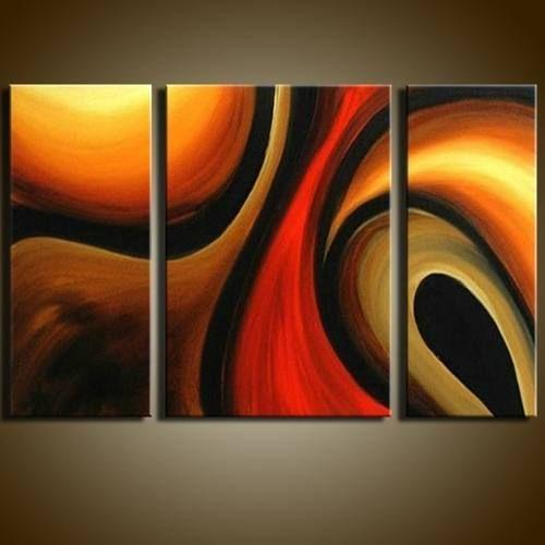 Abstract Painting, Bedroom Wall Art, Living Room Wall Art, 3 Piece Wall Art, Home Art Decor - Art Painting Canvas