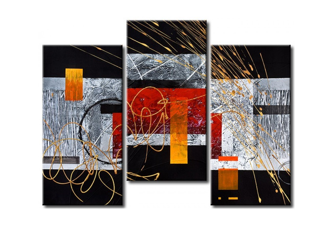 Contemporary Wall Painting, 3 Piece Painting, Modern Acrylic Paintings, Bedroom Wall Art Paintings