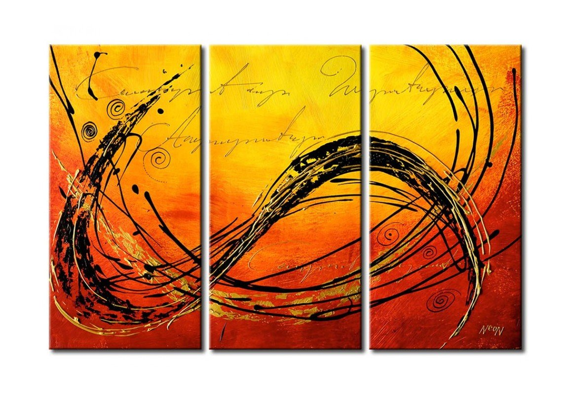 3 Piece Wall Painting, Modern Contemporary Paintings, Acrylic Abstract Paintings, Wall Art Paintings-Grace Painting Crafts