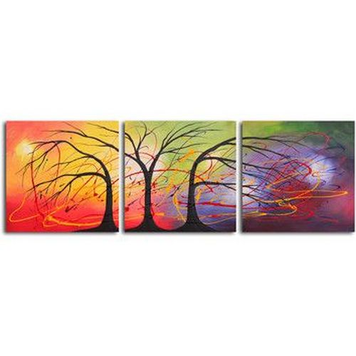 Acrylic Painting Abstract, 3 Piece Wall Art, Paintings for Living Room, Landscape Paintings, Hand Painted Canvas Painting-Grace Painting Crafts
