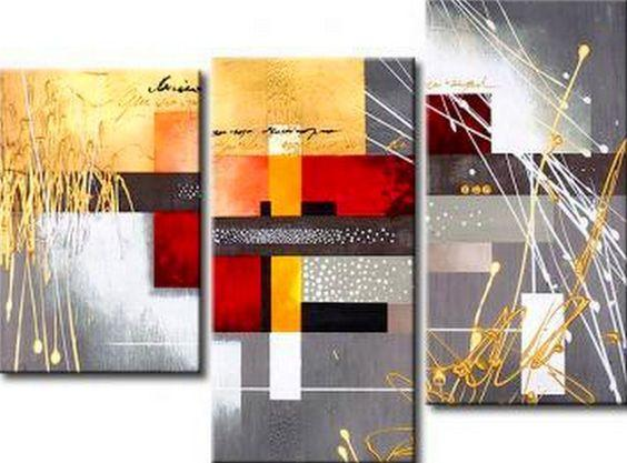 3 Piece Wall Art, Abstract Acrylic Paintings, Texture Artwork, Acrylic Painting on Canvas, Modern Wall Art Paintings-Grace Painting Crafts