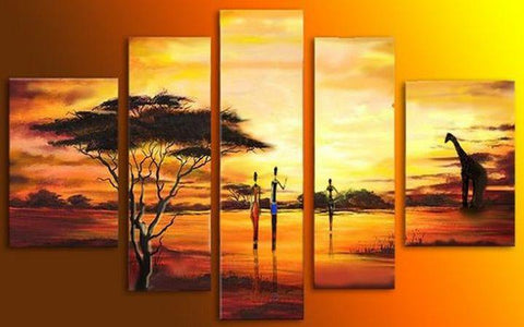 Extra Large Wall Art, African Hunting Painting, Bedroom Canvas Painting, Buy Art Online
