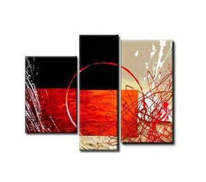 Bedroom Wall Art, Living Room Wall Art, 3 Piece Wall Art, Abstract Art Decor - Art Painting Canvas