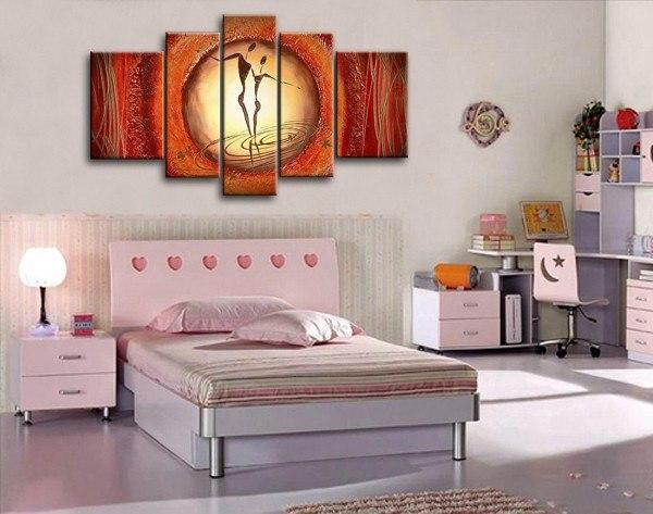 Extra Large Wall Art, Abstract Figure Painting, Bedroom Canvas Painting, Buy Art Online