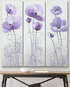 Purple Flower Painting, Abstract Flower Paintings, Bedroom Wall Art Painting, Modern Paintings-Grace Painting Crafts