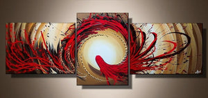 Abstract Art, Red Abstract Painting, Canvas Art Painting, Abstract Art for Sale - Art Painting Canvas