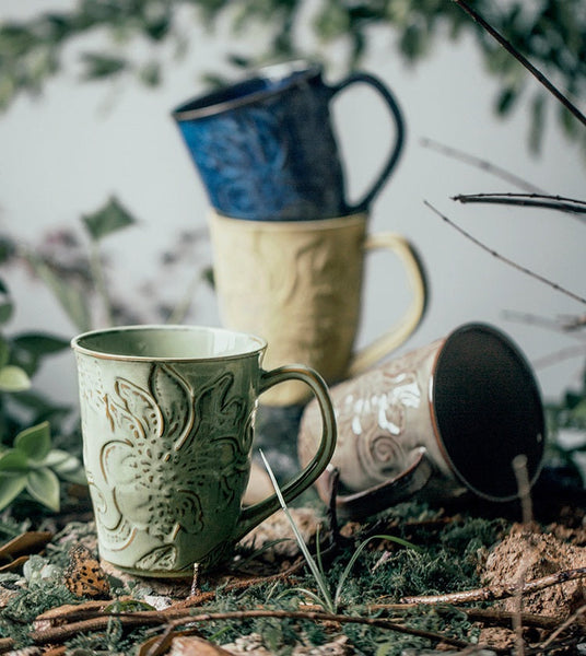 Ethnic Style Nylon Carpet, Yellow Floor Carpet and Rugs for Living Room, Bedroom